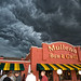 Ominous clouds outside Mullen's