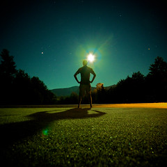 Day 351: When the Moon Casts Shadows (Nick Today) Tags: new portrait moon green grass silhouette night self golf square shadows nick sigma nh hampshire days course crop barefoot 365 1020mm today moonflare iownthenight forsomereasonthisfeelsslightlyarabiantome