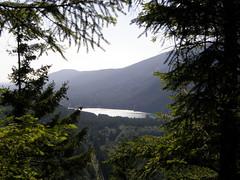 Peekaboo view of Rattlesnake lake just short of Cedar Butte summi. (bikejr) Tags: ironhorse cedarbutte