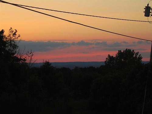 Sunset over Clausland Mountain