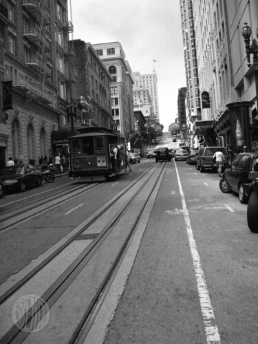 classic cable car shot