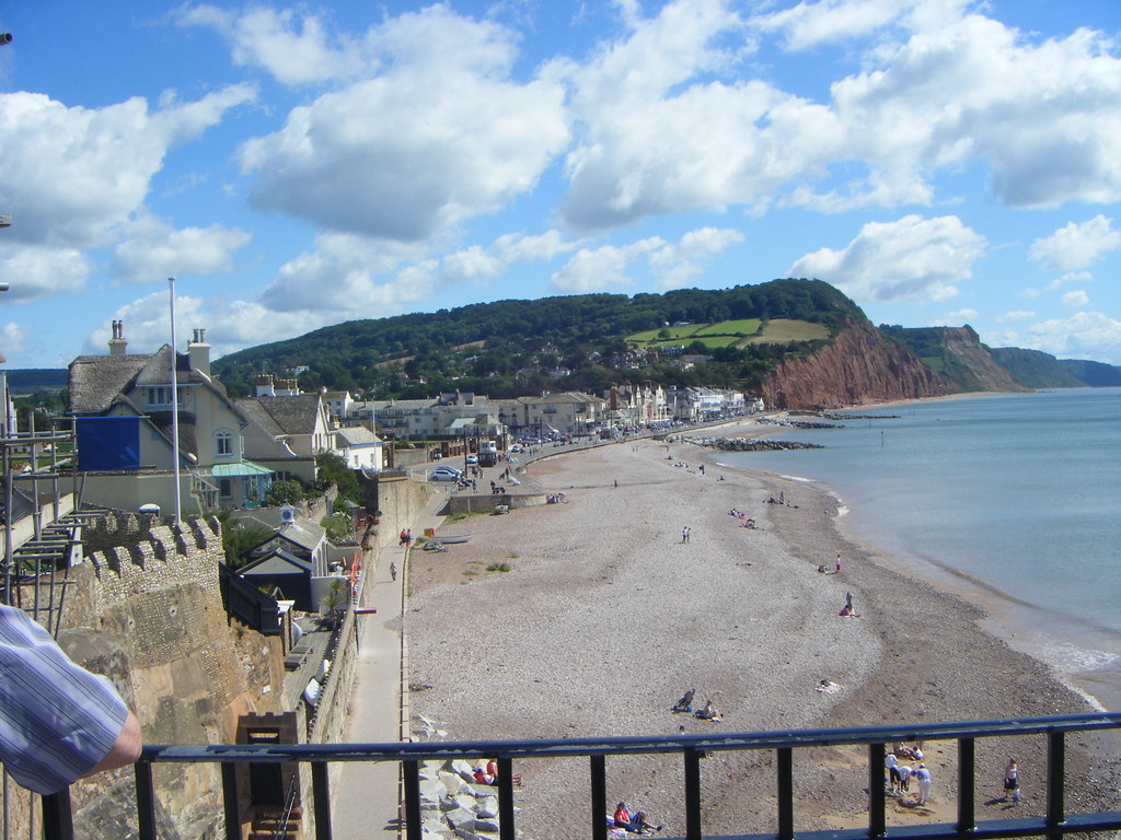 Sidmouth beach from Jacob