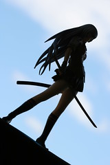 Who's silhouette is this? (katsuboy) Tags: shadow anime silhouette japan toys japanese shadows 18 swords alter figures kage pvc samuraisword ikkitousen bfigure 18scale dragondestiny chounshiryu