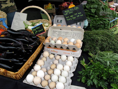 Assorted Eggs at Schaner Farms Stand