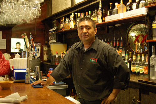 Juan, a barman in Savannah, Georgia.