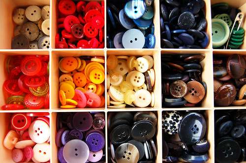 Mom's button collection