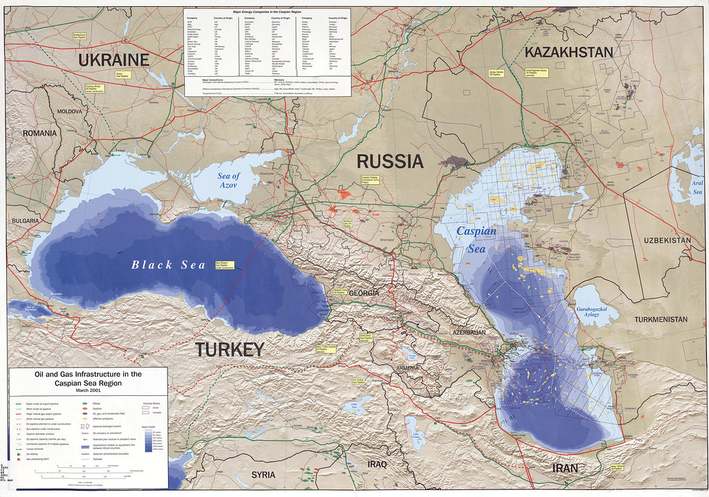 Black and Caspian Sea oil and gas pipelines