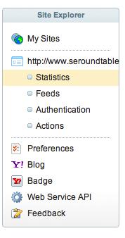 Yahoo Site Explorer Design