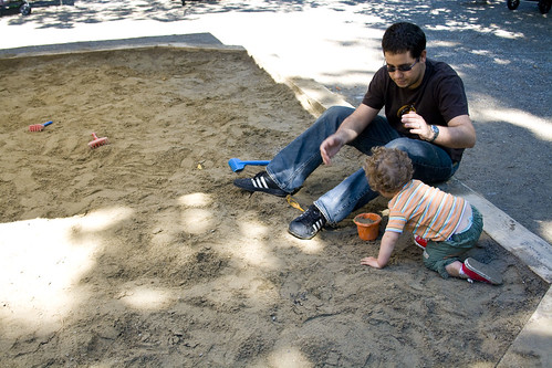 Daddy and Ian in the Sand