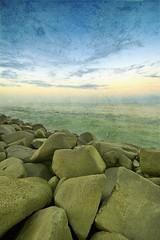 Heaven Pieces (Khaled A.K) Tags: sea seascape texture photography rocks sa jeddah saudiarabia khaled waterscape ksa saudia kashkari