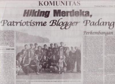Palanta Hiking Merdeka di Padang Ekspress