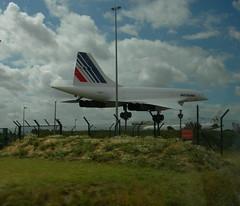 concorde at CDG (musiquegirl) Tags: paris airplane airport concorde sst cdg supersonic