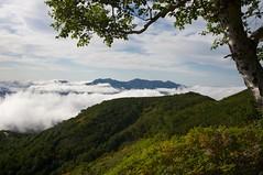 雲海に浮かぶ石狩連峰