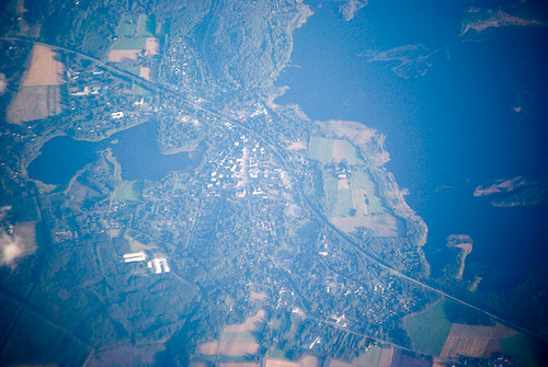 view from the plane: Scandinavia from 33,000 feet