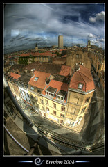 View from above - Brussels - Belgium :: HDR (Erroba) Tags: houses brussels photoshop canon rebel high lift belgium belgique tripod elevator belgi bruxelles sigma fisheye tips remote erlend brussel hdr overview cs3 10mm justitiepaleis 3xp photomatix tonemapped tonemapping xti 400d erroba robaye erlendrobaye