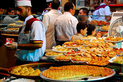 Ramadhan Sweets in Syria (friend_faraway *) Tags: people shopping sweets syria ramadan damascus ramzan 5photosaday top20travelpix baramkeh