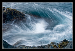Maelstrom at Doctor's Cove (Tomcod) Tags: ocean blue light sea canada nature water beautiful rock newfoundland nikon aqua surf wave atlantic whirlpool maelstrom rockyshore waterforms flickrsbest doctorscove daarklands