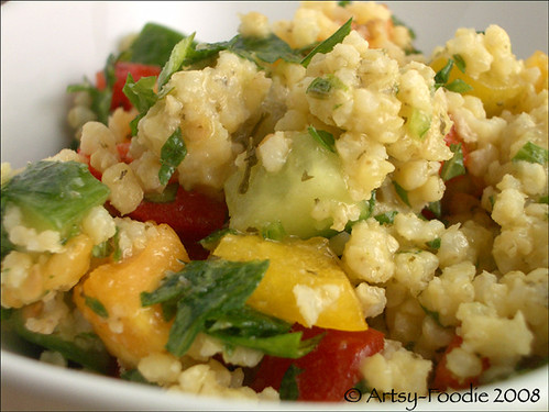 millet salad up close