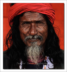 A Face (lyadarus) Tags: life old people india color colour face digital beard nikon nikkor dslr curve wrinkle soe shantiniketan westbengal supershot d80 18135mm abigfave colorphotoaward