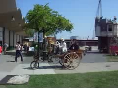 A video of our steam car tooling around (Boilermonster) Tags: car wagon live engine steam pump faire cart maker boiler haul kimric neverwas time:hour=11am