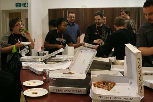 Geeks Demolish Pizza