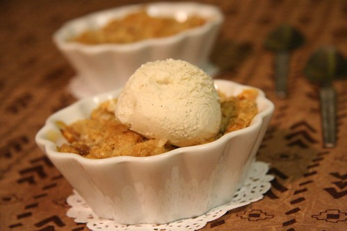 Fruit Crisp: with vanilla bean ice cream