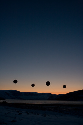 CO2 balloons floating in The Arctic