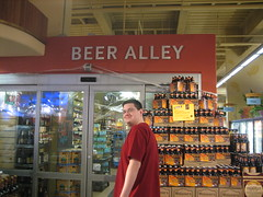 Austin visiting Beer Alley