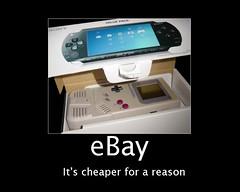 Motivational Poster - eBay (DiscoWeasel) Tags: boy game poster psp funny ebay lol sony misc nintendo internet humor meme gameboy motivational noob wastesometime