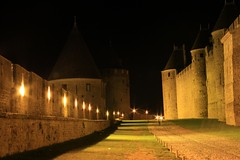 Carcassonne_2008 (17) (cpando1974) Tags: france castle stone night view towers medieval knights carcassonne cathars