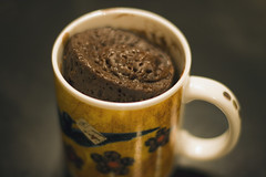 3 minute chocolate mug cake (dive-angel (Karin)) Tags: food cup cake yummy chocolate mug microwave canon50mm schoggi mikrowelle eos400d