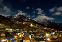 Namche Bazaar (nick_hardcastle) Tags: nightphotography nepal tourism night trek lights market ebc namchebazar namche namchebazaar everestbasecamp nickhardcastle tregk