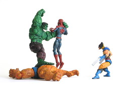 Varios_08 (Yardn) Tags: man spider thing spiderman legends hulk araa marvel hombre cosa showdown wolverine lobezno