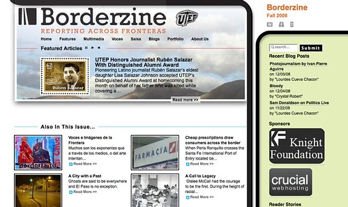 BorderZine.com - Fall 2008 (new Knight grant announced Dec 5 2008)