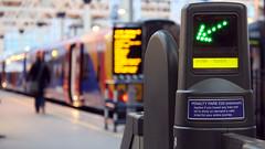 Ticket gate at Waterloo station (Tristan Appleby) Tags: uk england london station train transport platform rail railway trains waterloo concourse ticketbarrier ticketbarriers ticketgate ticketgates barriergates