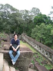 앙코르 유적 지붕 위에서