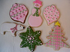 Pink and Green Christmas Cookies (Andovercookiemama) Tags: christmas cookies christmascookies decoratedcookies