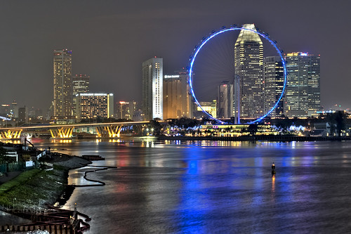 Singpore Skyline at Night