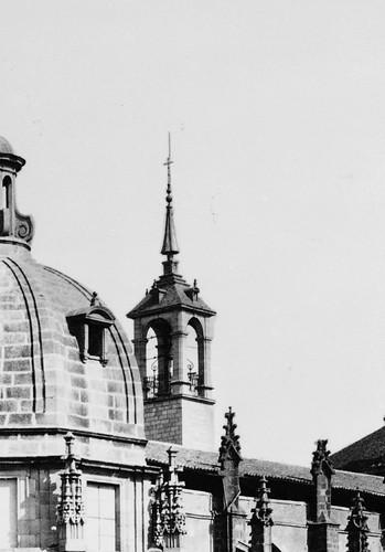 Torre del Reloj de la Catedral de Toledo. Foto Jean Laurent (detalle)