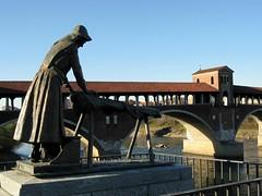 a Pavia (antocsc) Tags: italy ticino ponte lombardia pavia kartpostal bellitalia