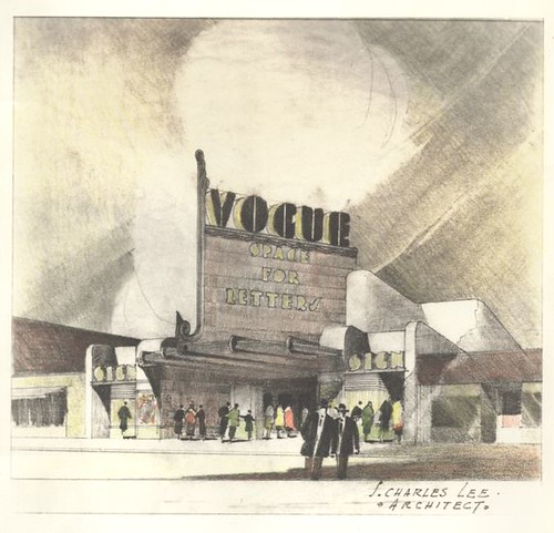 Fox Theatre, Redondo Beach design drawing