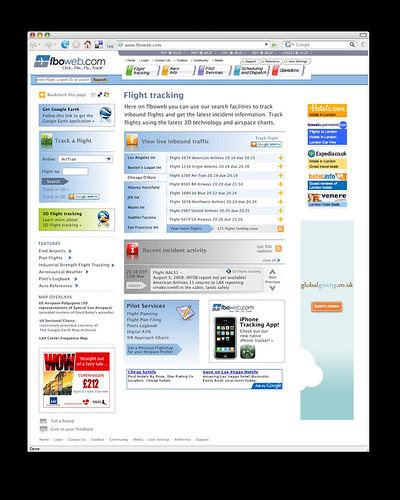 FBOweb, design