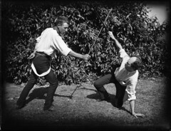 Scene of two men fencing (Powerhouse Museum Collection) Tags: 2 two men training play braces moustache acting sword duel fencing block powerhousemuseum steampunk playacting xmlns:dc=httppurlorgdcelements11 dc:identifier=httpwwwpowerhousemuseumcomcollectiondatabaseirn385861