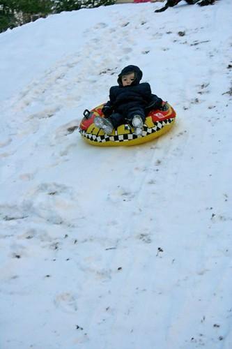 Alex sledding