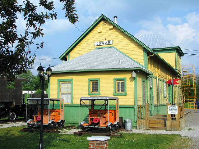 Cowan, TN Depot (now a Railroad Museum) 2008