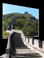 Welcome to the Great Wall of China (edhelien) Tags: china wall stairs landscape asia postcard chinese greatwall 1001nights greatwallofchina wallofchina chinesewall changcheng chngchng p1f1 platinumheartaward velknskze