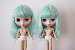 Hair comparison - OOB, other with a wash