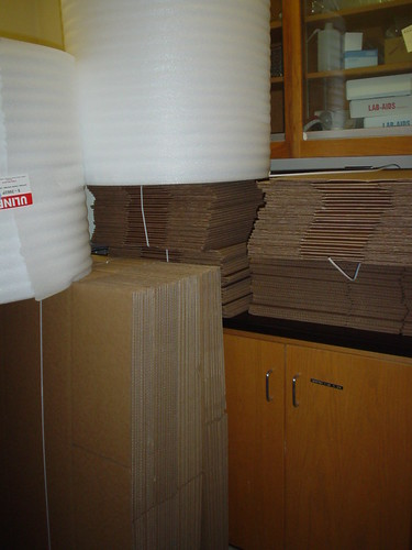 Boxes and foam