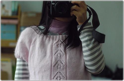 [拉克藍袖]大圓領短袖毛海