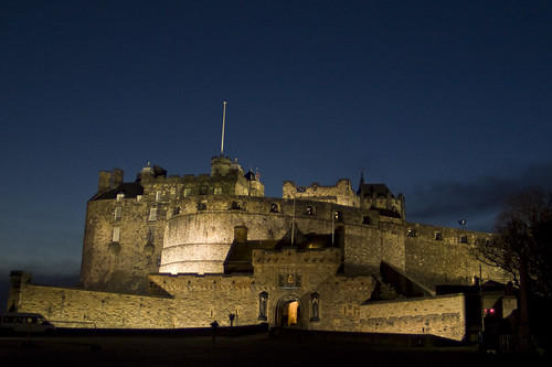 Pale gold, but gold nonetheless Edinburgh Castle is simply stunning